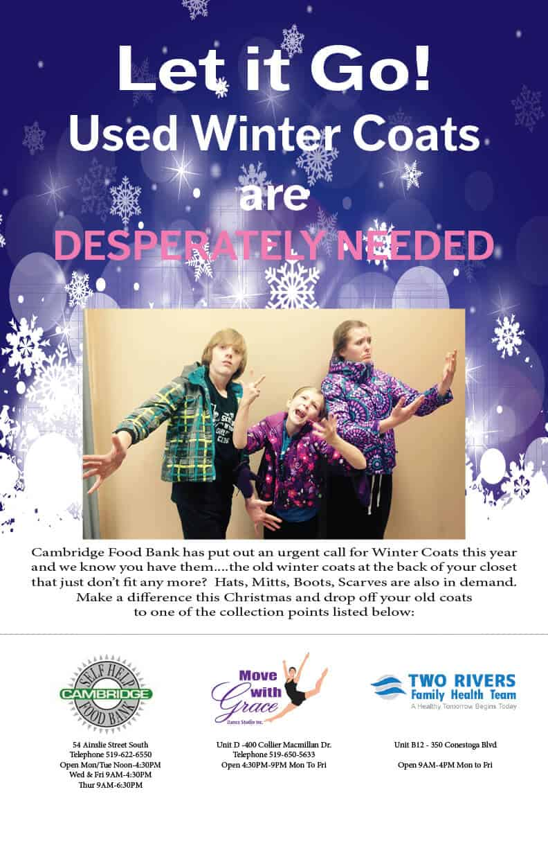 Winter Clothing is Desperately Needed for Cambridge Food Bank