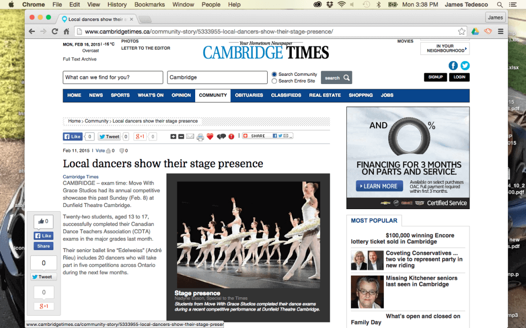 Move With Grace dance studio takes to the Stage at the Dunfield Theatre